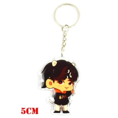 K-POP BTS Bulletproof Boy Scouts Pendant Key Ring Cartoon Acrylic Cute Keychain