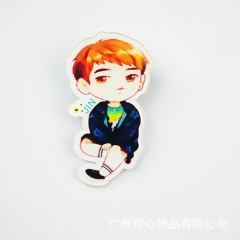 K-POP BTS Bulletproof Boy Scouts Cartoon Acrylic Keychain/Brooch/Phone Holder