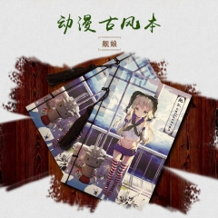 Japanese Kantai Collection Cartoon Paper Book Kawaii Notebook