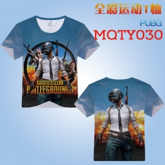 Playerunknown's Battlegrounds Cosplay Cartoon Print Anime Short Sleeves Style Round Neck Comfortable T Shirts