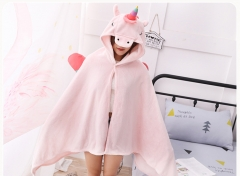 3Colors Unicorn Cute Cosplay Costume Cartoon Warm Thick Comfortable Hooded Cloak Costume