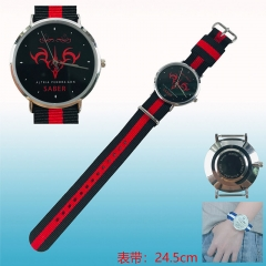 Fate Stay Night Saber Cosplay Cartoon Nylon Belt Anime Wristwatch