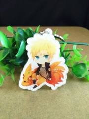 Japanese Naruto Acrylic Keychain Cartoon Cute Keyring