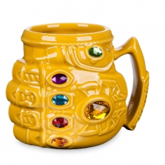 The Avengers Thanos Gloves Model Cup Cartoon Ceramics Large Capacity Creative Anime Mug Cups
