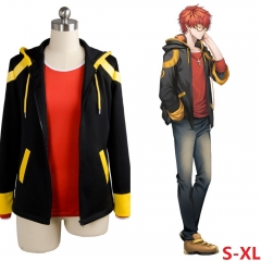 Mystic Messenger Luciel Game Sweatshirt Cosplay Anime Zipper Hoodie and T-shirt Set