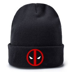 Deadpool Movie Cosplay Cartoon Thick For Winter Hat Warm Decoration Wool Hat