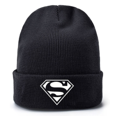 Superman Movie Cosplay Cartoon Thick For Winter Hat Warm Decoration Wool Hat