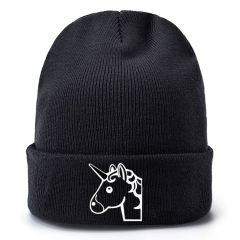 Unicorn Cosplay Cartoon Thick For Winter Hat Warm Decoration Wool Hat