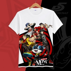 PERSONA 5 Cartoon Printed Cosplay Short Sleeve Anime T Shirt