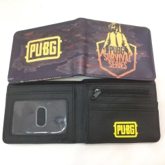 Playerunknown's Battlegrounds Cosplay Game Wallets PU Leather Coin Purse Bifold Anime Wallet