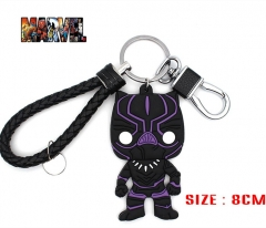 Marvel Comics Black Panther Movie Soft Plastic Cosplay Decoration Keyring Pendant Anime Keychain