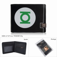 Green Lantern Movie Cosplay Color Printing Purse Anime Short Wallet