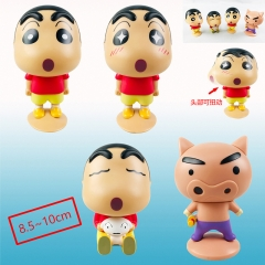 Crayon Shin-chan Cartoon Cosplay Mini Cute Collection Toys Plastic Anime Figure (4pcs/set)