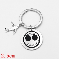 The Nightmare Before Christmas Cartoon Jack Pendant Key Ring Wholesale Cosplay Anime Key Chain