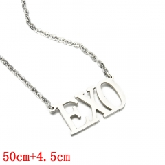 EXO English Letter Necklace Fashion Jewelry Anime Necklaces