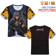 Girls Frontline Cosplay Cartoon Print Anime Short Sleeves Style Round Neck Comfortable T Shirts