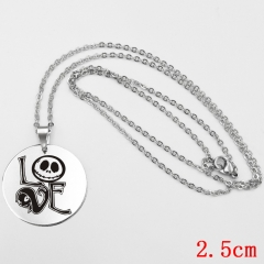 The Nightmare Before Christmas Cartoon Jack Pendant Necklace Wholesale Cosplay Anime Necklaces