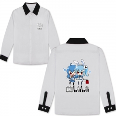 5Colors Bilibili Cosplay Cartoon Print Anime Long Sleeves Style Comfortable T Shirts