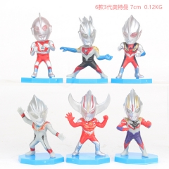 Ultraman 3 Generation Cosplay Cartoon Model Collection Toys Anime Figure (6pcs/set)