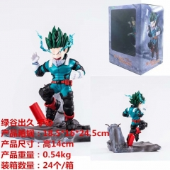 Boku no Hero Academia / My Hero Academia Midoriya Izuku Cartoon Model Toys Statue Wholesale Anime PVC Figure 14cm