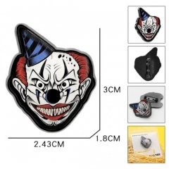 Stephen King's It Movie Cartoon Fashion Badge Pin Decoration Cloth Alloy Anime Brooch