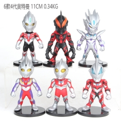 Ultraman 4 Generation Cosplay Cartoon Model Collection Toys Anime Figure (6pcs/set)