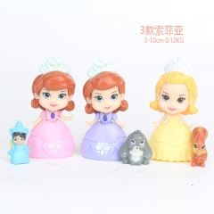 Sofia the First Disney Cosplay Cartoon Model Collection Toys Anime Figure (3pcs/set)