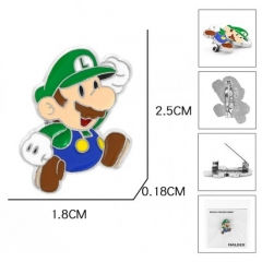 Super Mario Bro Game Cartoon Fashion Badge Pin Decoration Alloy Anime Brooch