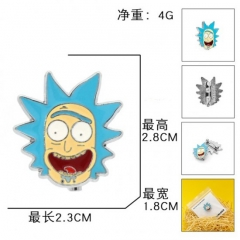 Rick and Morty Cartoon Fashion Badge Pin Decoration Cloth Alloy Anime Brooch