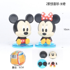 Mickey Mouse Disney Cosplay Cartoon Model Collection Toys Anime Figure (2pcs/set)