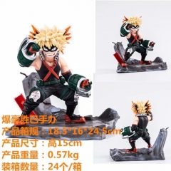 Boku no Hero Academia / My Hero Academia Bakugou Katsuki Cartoon Model Toys Statue Wholesale Anime PVC Figure 15cm
