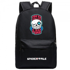 Undertale Cosplay High Quality Anime Backpack Bag Black Travel Bags