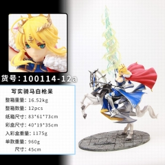 Fate Stay Night Saber Cosplay Cartoon Model Toy Statue Anime Figure 45cm
