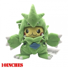 Pokemon Anime Pikachu Cos Tyranitar Plush Doll Anime Plush Toys
