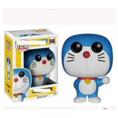 Funko POP Doraemon 58# Cosplay Cartoon Model Toys Statue Anime PVC Figure