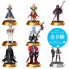 FGO Fate Stay Night Japanese Cartoon Model Toys Statue Anime PVC Figure (8pcs/set)