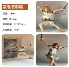 One Piece Cartoon Model Toys Statue Nami Anime PVC Figure 15CM