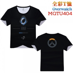 Overwatch Cosplay Cartoon Print Anime Short Sleeves Style Round Neck Comfortable T Shirts