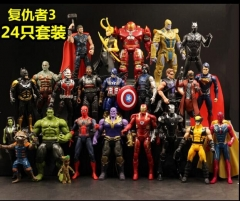 The Avengers Super Hero Model Toys Statue Anime PVC Figure (24pcs/set)