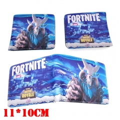 Fortnite Game Cartoon Coin Purse PU Leather Bifold Anime Short Wallet