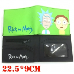 Rick and Morty Cosplay Cartoon Wallets PU Leather Coin Purse Bifold Anime Wallet