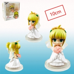 Fate Stay Night Saber Wedding Cartoon Cosplay Collection Toys Plastic Anime Figure