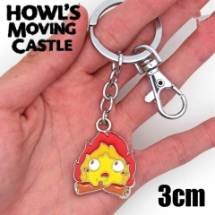 Howl's Moving Castle Karushifa Cosplay Cartoon Decoration Alloy Keyring Pendant Anime Keychain