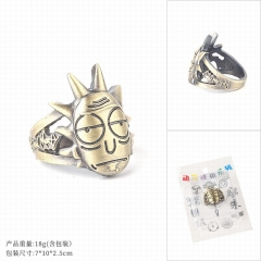 Rick and Morty Cosplay Cartoon Decoration Finger Anime Ring
