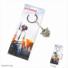 Playerunknown's Battlegrounds Game Pendant Key Ring PUBG Stainless Steel Anime Keychain