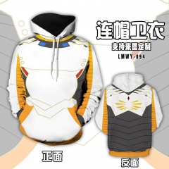 Overwatch Cartoon Hooded Hoodie Fashion Cosplay Print Anime Sweater Hooded Hoodie