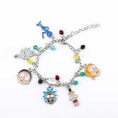 Rick And Morty Cartoon Alloy Wristband Decoration Pendant