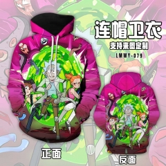 Rick and Morty Cartoon Hooded Hoodie Fashion Cosplay Print Anime Sweater Hooded Hoodie