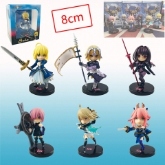Fate Stay Night Cosplay Cartoon Model Toys Statue Anime PVC Figure 6pcs/set
