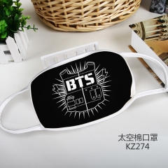 K-POP BTS Bulletproof Boy Scouts Cosplay Cartoon Mask Space Cotton Anime Print Mask